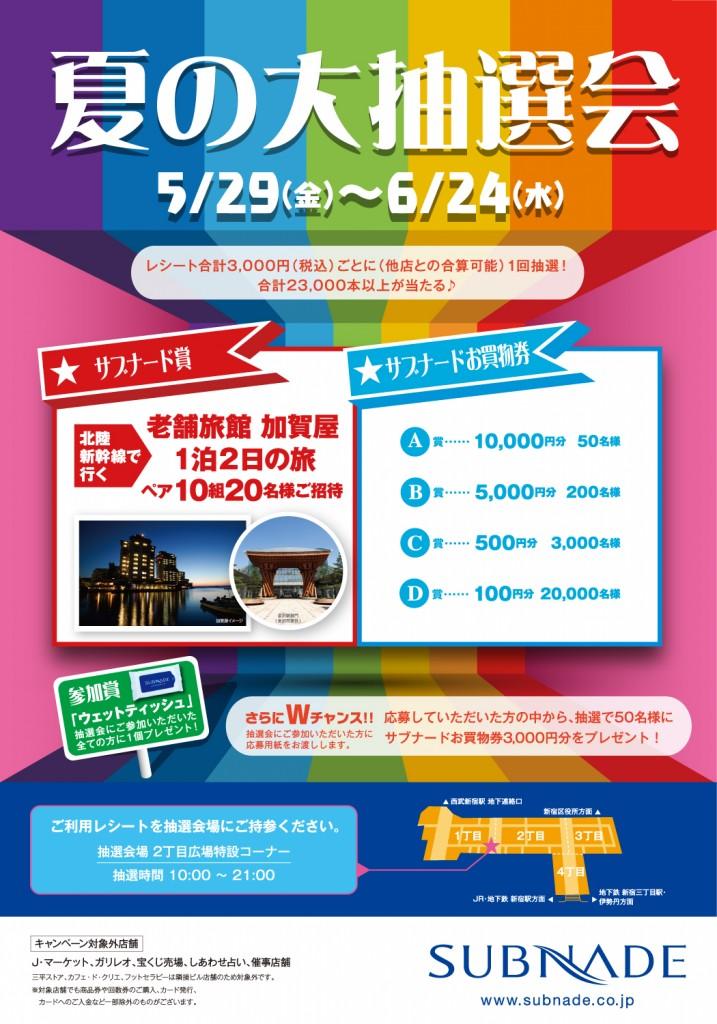 サブナード夏の大抽選会開催中(5/29~6/24)