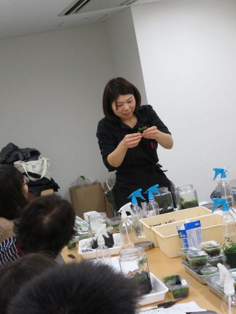 【新宿店】2月26日「コケリウムを作ってみよう」寺子屋無事終了いたしました。