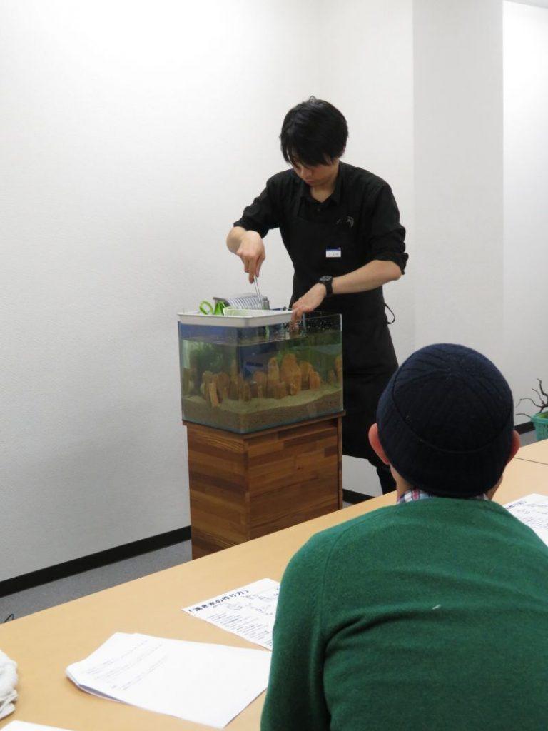 【新宿店】森の寺子屋「実践! 湧き水水槽レイアウト!」無事に終了しました!