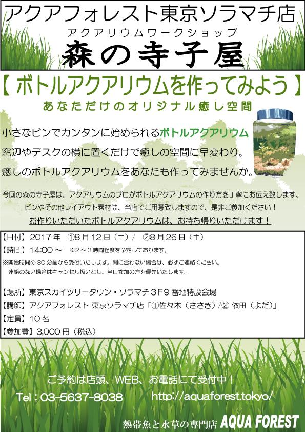 【ソラマチ店】寺子屋を開催致します。