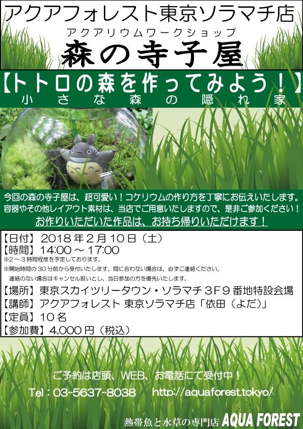 【ソラマチ店】2月10日寺子屋を開催致します!!
