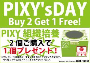 【新宿店】明日は「PIXYの日」!!