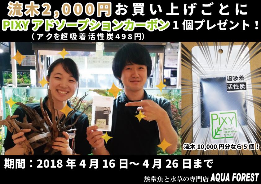 【新宿店】PIXY社アドソープションカーボンキャンペーン!4月16日~4月26日