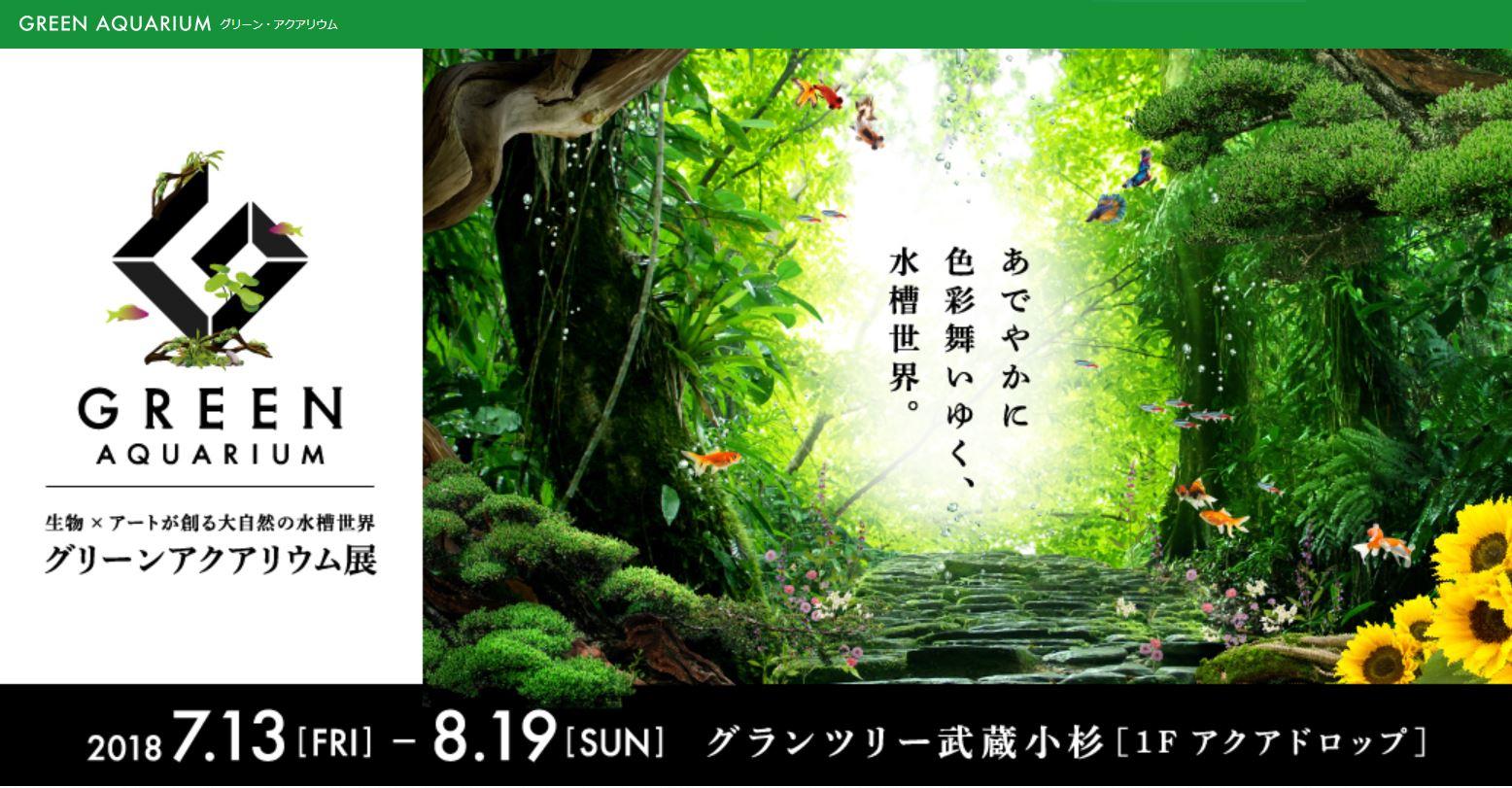 【イベント告知】グリーンアクアリウム展開催中