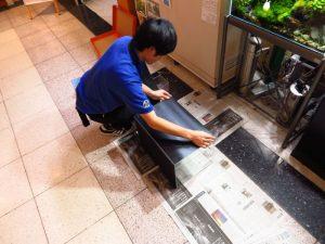 【新宿店】限定品 バックスクリーン、マット貼り付済み45水槽販売中