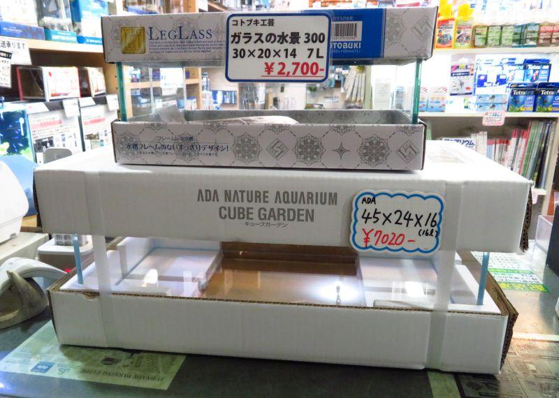 【新宿店】フラット水槽も在庫あります!