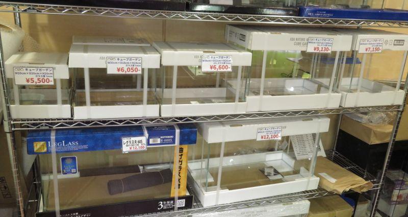 【新宿店】ADA水槽の在庫状況 90×45×45センチ水槽入荷!